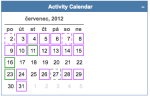 activity calendar 20120731