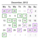 activity calendar 20121231