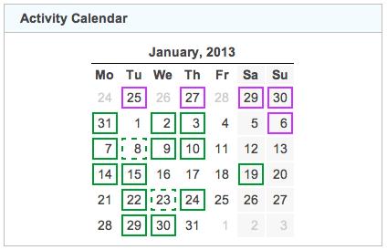 activity calendar 20130131