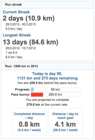 running goals 20130331