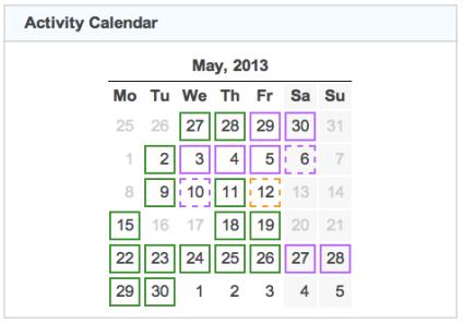 activity calendar 20130430