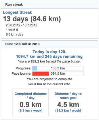 running goals 20130430