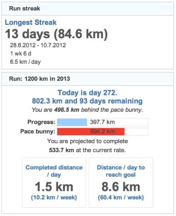running goals 20130930