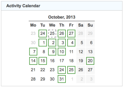 activity calendar 20131031