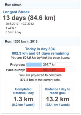 running goals 20131031