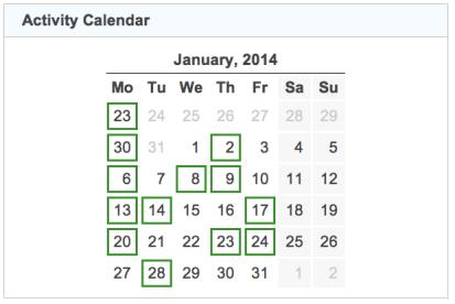 activity calendar 20140131