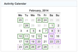 activity calendar 20140228