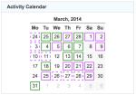 activity calendar 20140331