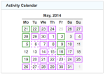 activity calendar 20140531