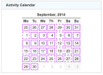 gz run activity calendar 20140930